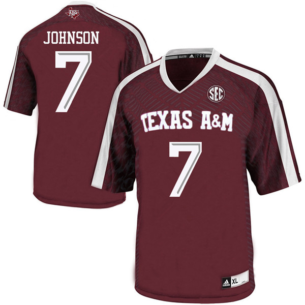 Men #7 Buddy Johnson Texas Aggies College Football Jerseys Sale-Maroon