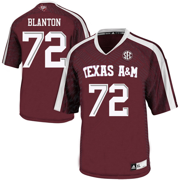 Men #72 Colten Blanton Texas Aggies College Football Jerseys Sale-Maroon