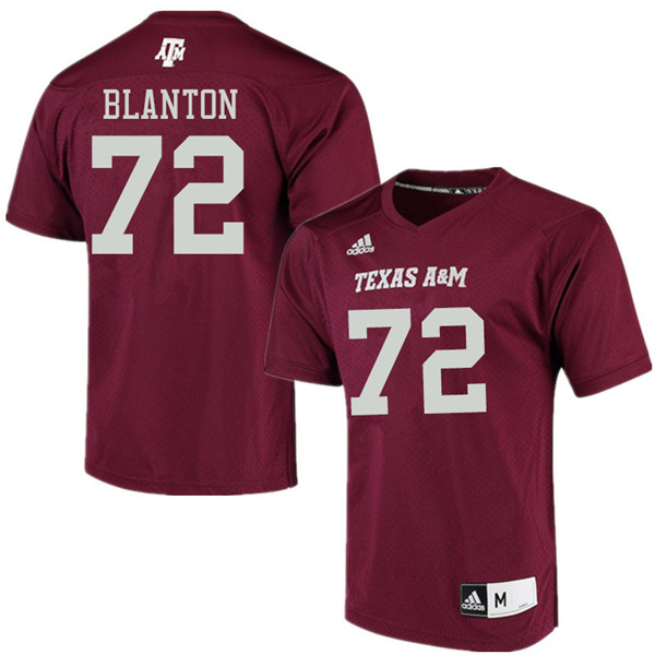 Men #72 Colten Blanton Texas Aggies College Football Jerseys Sale-Maroon Alumni Player Jersey