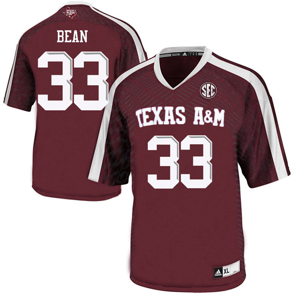 Men #33 Justice Bean Texas Aggies College Football Jerseys Sale-Maroon