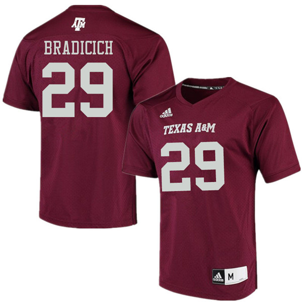 Men #29 Kurtis Bradicich Texas Aggies College Football Jerseys Sale-Maroon Alumni Player Jersey