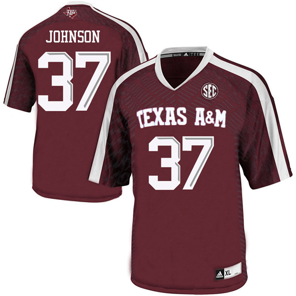 Men #37 Marquez Johnson Texas Aggies College Football Jerseys Sale-Maroon