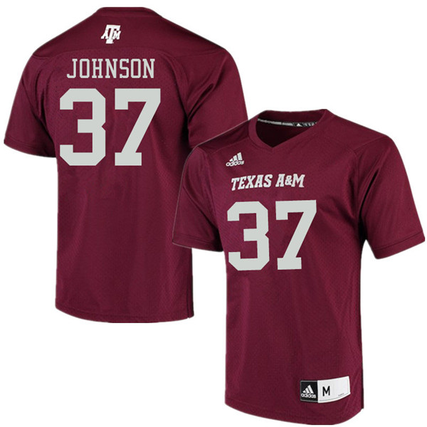 Men #37 Marquez Johnson Texas Aggies College Football Jerseys Sale-Maroon Alumni Player Jersey