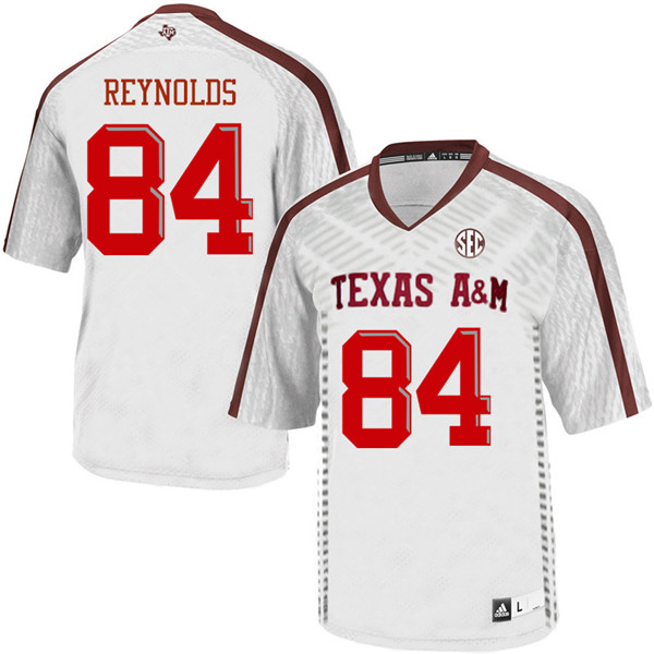 Men #84 Moses Reynolds Texas Aggies College Football Jerseys Sale-White