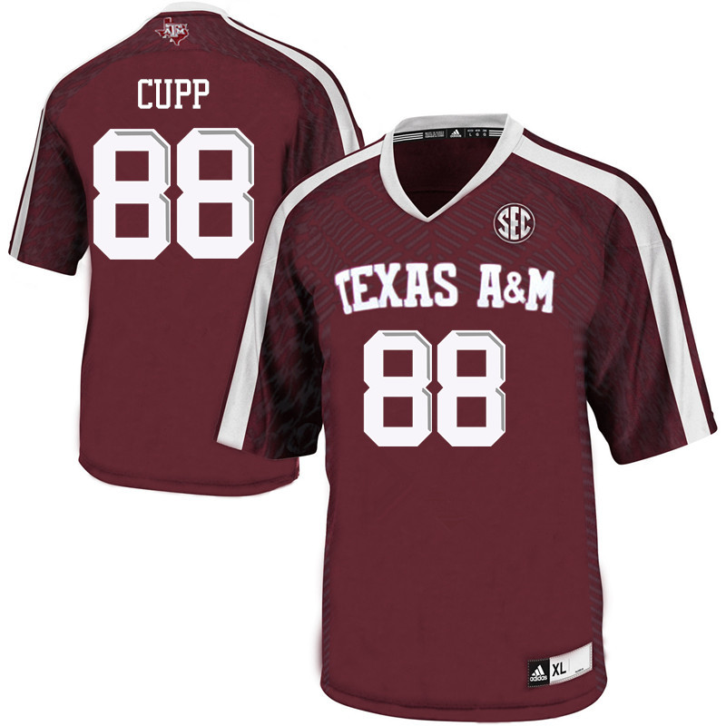 Men #88 Baylor Cupp Texas A&M Aggies College Football Jerseys Sale-Maroon