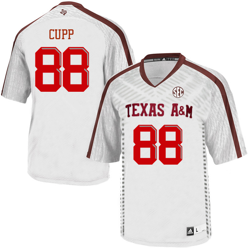 Men #88 Baylor Cupp Texas A&M Aggies College Football Jerseys Sale-White
