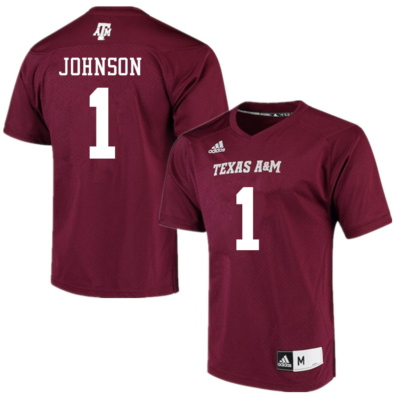 Men #1 Buddy Johnson Texas A&M Aggies College Football Jerseys Sale-Maroon Alumni Player