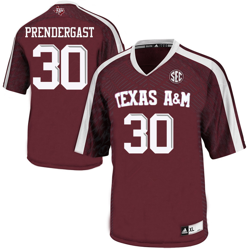 Men #30 Cade Prendergast Texas A&M Aggies College Football Jerseys Sale-Maroon