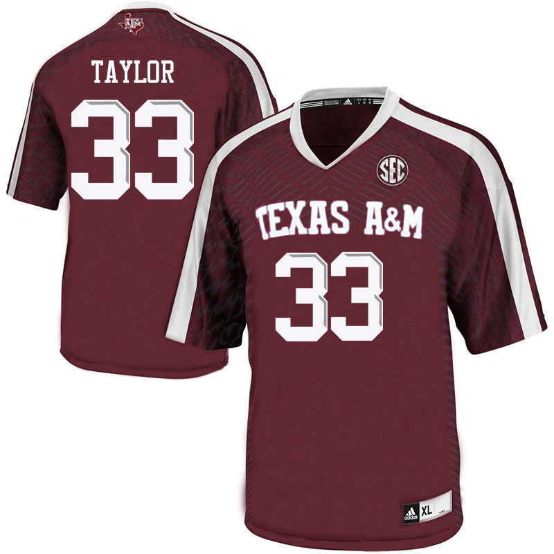 Men #33 Dylan Taylor Texas A&M Aggies College Football Jerseys Sale-Maroon