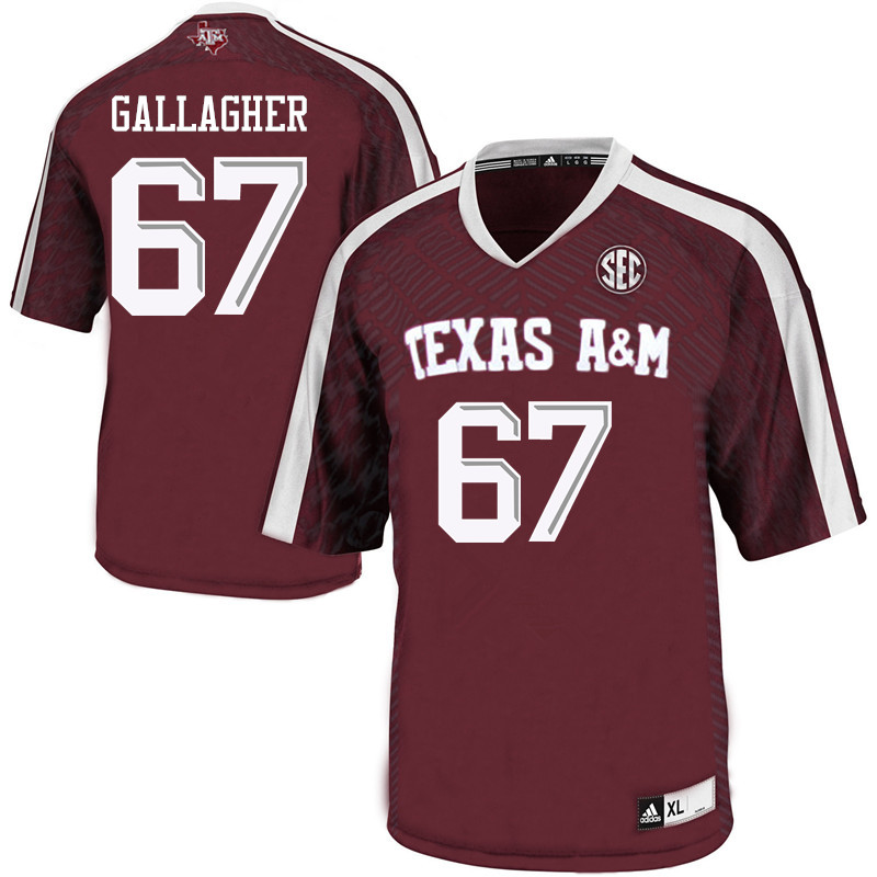 Men #67 Galen Gallagher Texas A&M Aggies College Football Jerseys Sale-Maroon
