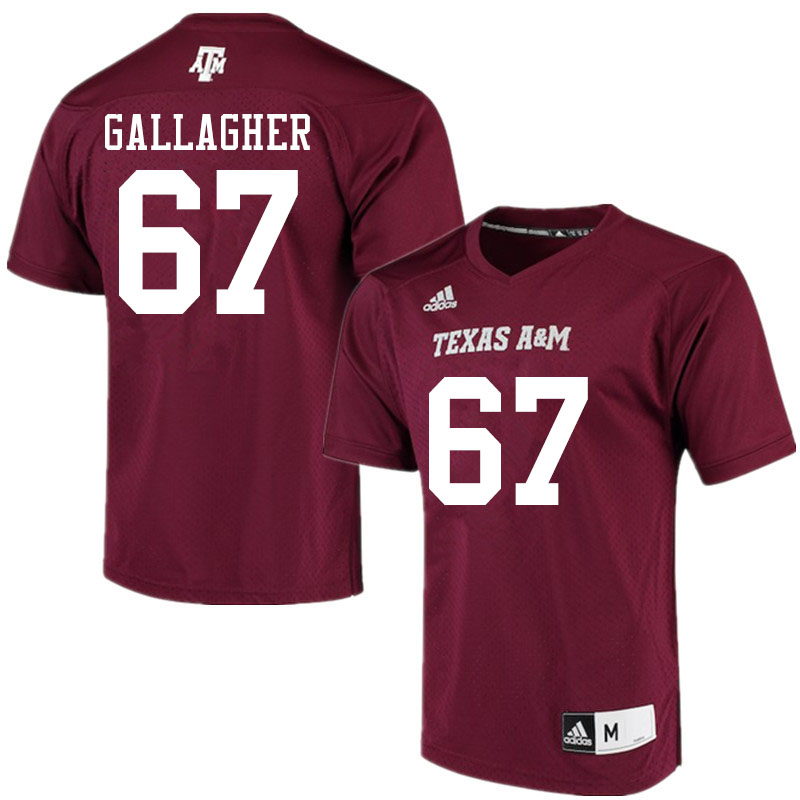 Men #67 Galen Gallagher Texas A&M Aggies College Football Jerseys Sale-Maroon Alumni Player