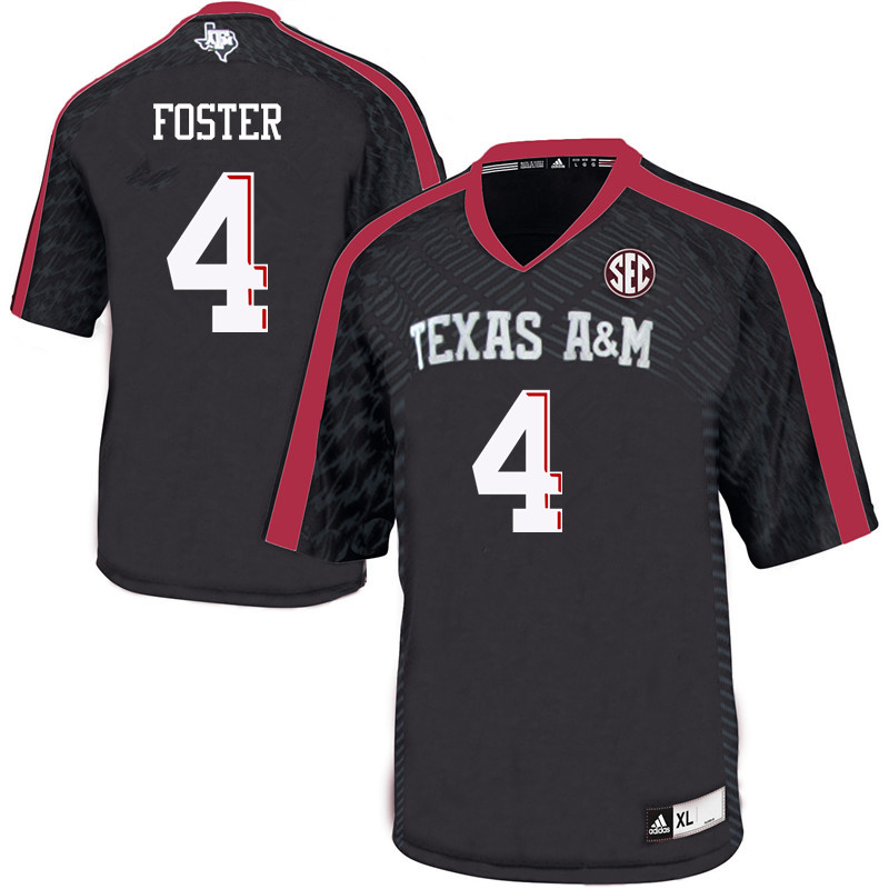 Men #4 James Foster Texas A&M Aggies College Football Jerseys Sale-Black