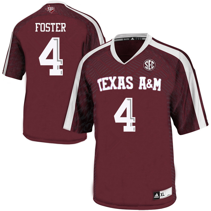 Men #4 James Foster Texas A&M Aggies College Football Jerseys Sale-Maroon