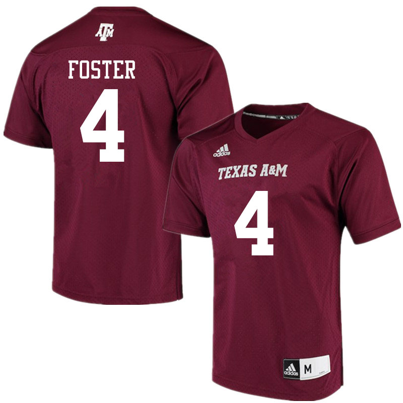 Men #4 James Foster Texas A&M Aggies College Football Jerseys Sale-Maroon Alumni Player