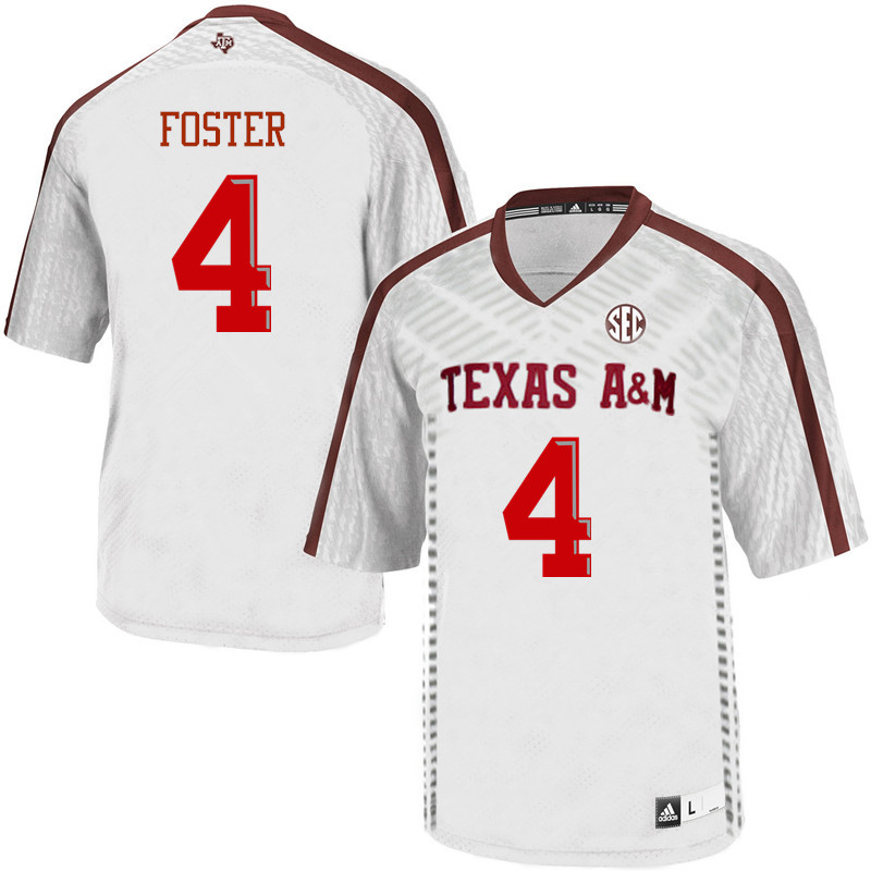Men #4 James Foster Texas A&M Aggies College Football Jerseys Sale-White