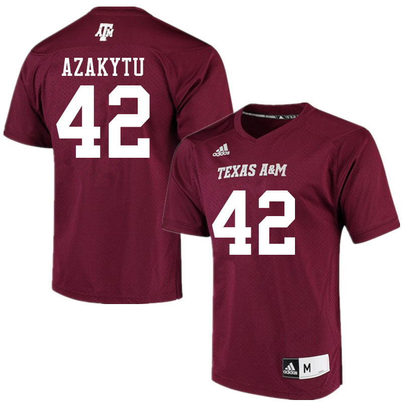 Men #42 Ke'undre Azakytu Texas A&M Aggies College Football Jerseys Sale-Maroon Alumni Player