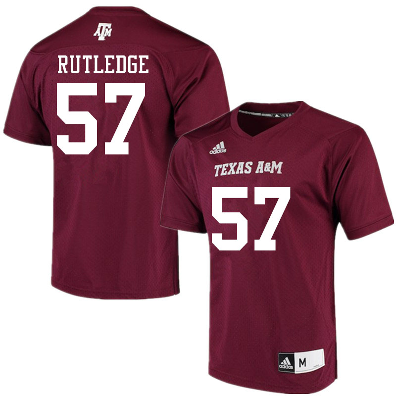 Men #57 McCrae Rutledge Texas A&M Aggies College Football Jerseys Sale-Maroon Alumni Player
