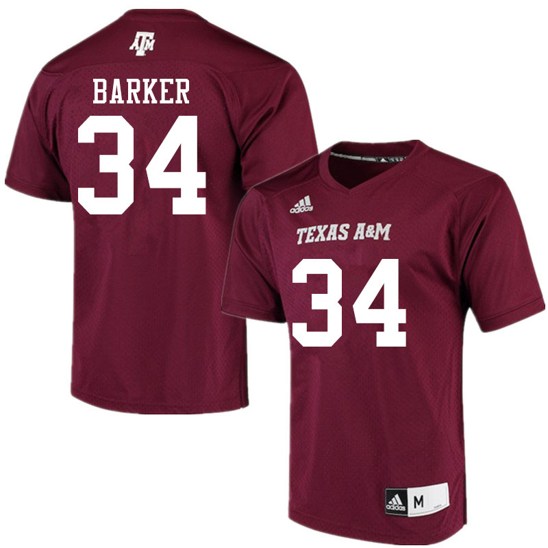 Men #34 Noah Barker Texas A&M Aggies College Football Jerseys Sale-Maroon Alumni Player