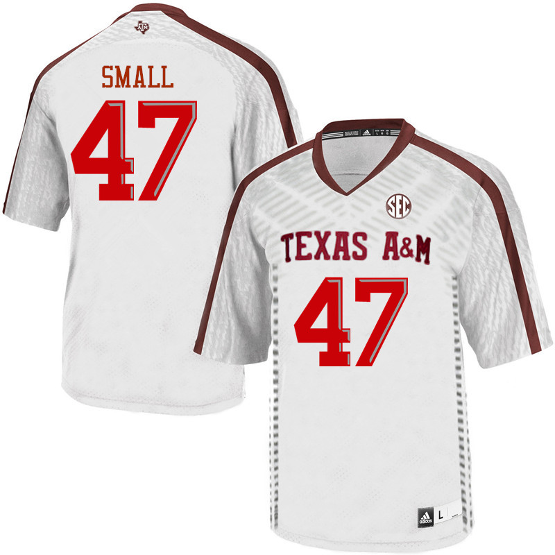 Men #47 Seth Small Texas A&M Aggies College Football Jerseys Sale-White
