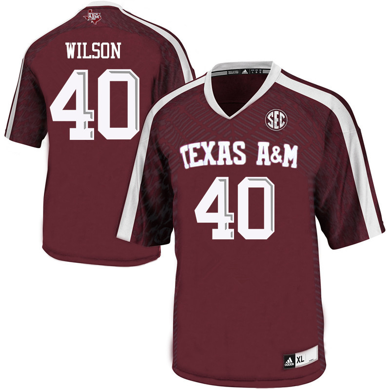 Men #40 Tyree Wilson Texas A&M Aggies College Football Jerseys Sale-Maroon