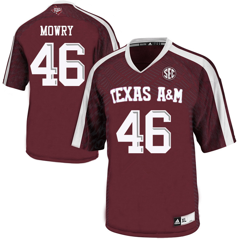 Men #46 Braedon Mowry Texas A&M Aggies College Football Jerseys Sale-Maroon