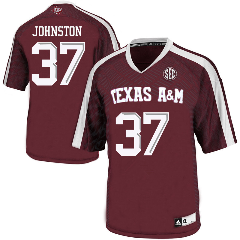 Men #37 Reed Johnston Texas A&M Aggies College Football Jerseys Sale-Maroon