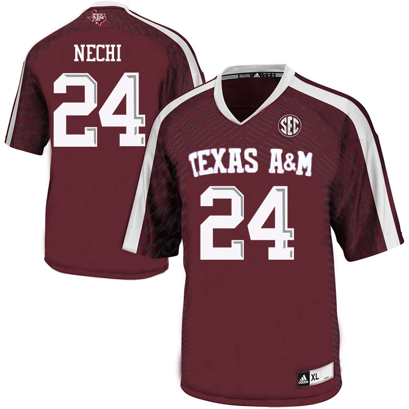 Men #24 Sam Nechi Texas A&M Aggies College Football Jerseys Sale-Maroon