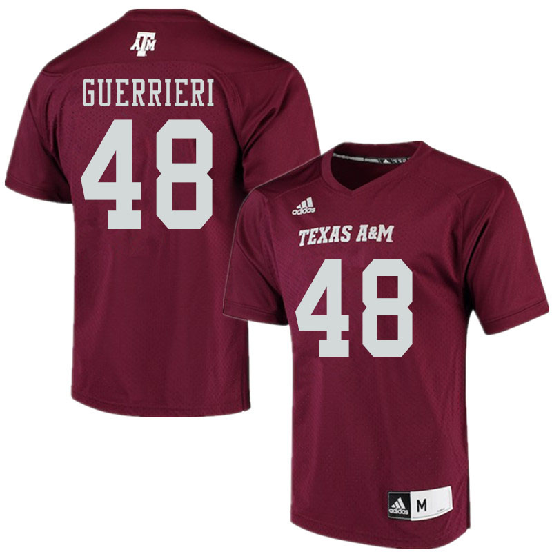 Men #48 Alan Guerrieri Texas A&M Aggies College Football Jerseys Sale-Maroon Alumni Player