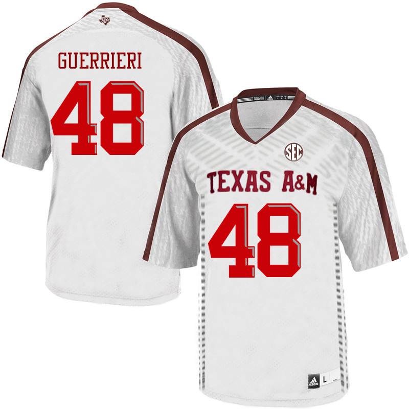 Men #48 Alan Guerrieri Texas A&M Aggies College Football Jerseys Sale-White
