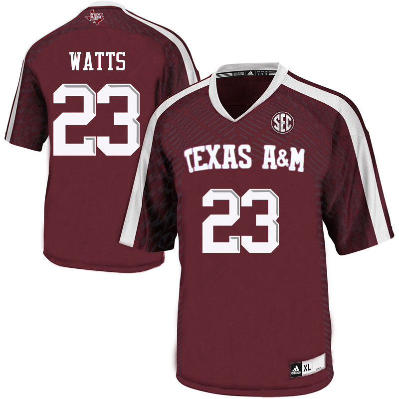 Men #23 Armani Watts Texas A&M Aggies College Football Jerseys-Maroon