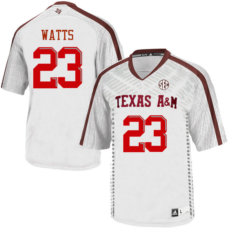 Men #23 Armani Watts Texas A&M Aggies College Football Jerseys-White