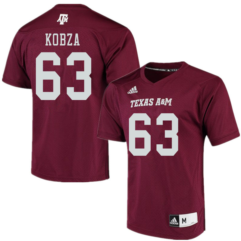Men #63 Braeden Kobza Texas A&M Aggies College Football Jerseys Sale-Maroon Alumni Player