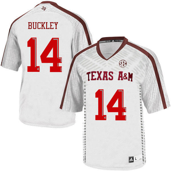 Men #14 Camron Buckley Texas A&M Aggies College Football Jerseys Sale-White