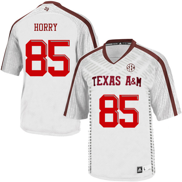 Men #85 Camron Horry Texas A&M Aggies College Football Jerseys Sale-White
