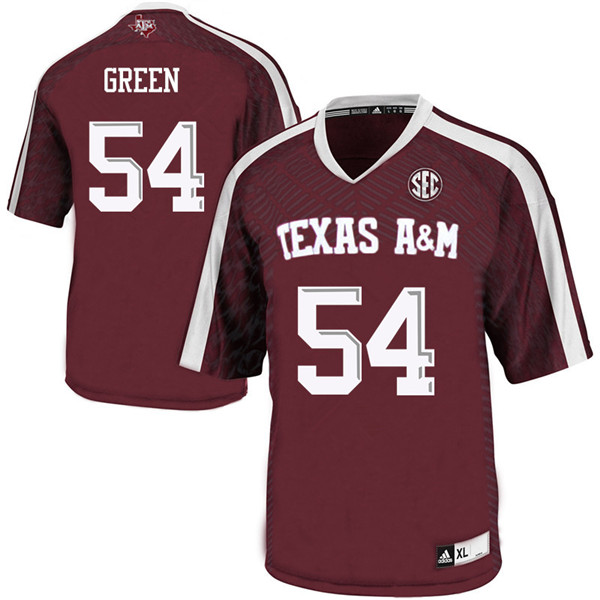 Men #54 Carson Green Texas A&M Aggies College Football Jerseys Sale-Maroon
