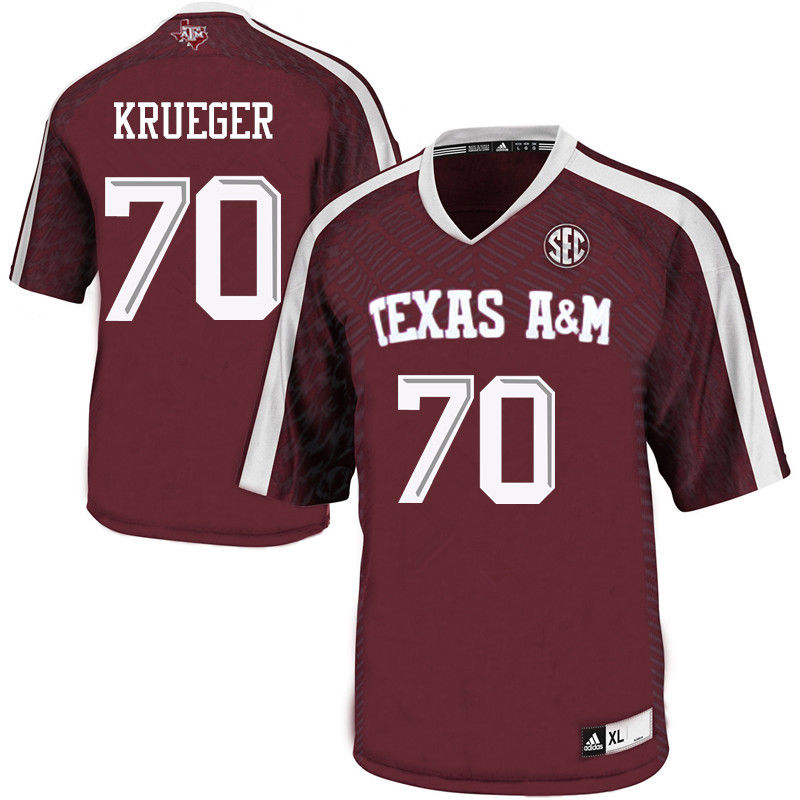 Men #70 Charlie Krueger Texas A&M Aggies College Football Jerseys-Maroon