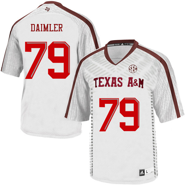 Men #79 Christian Daimler Texas A&M Aggies College Football Jerseys Sale-White