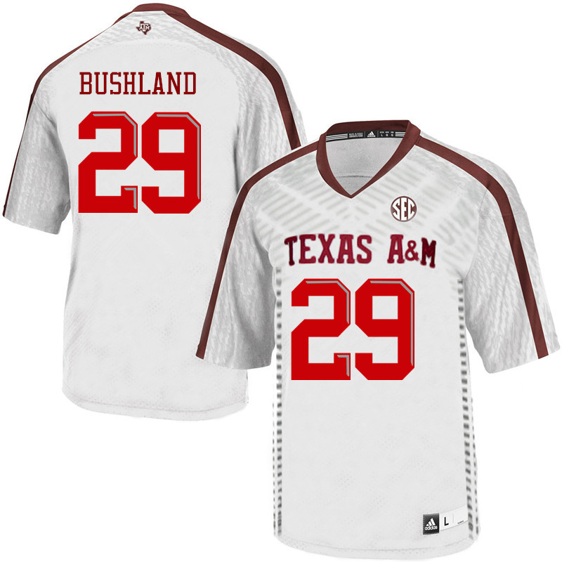 Men #29 Daniel Bushland Texas A&M Aggies College Football Jerseys Sale-White