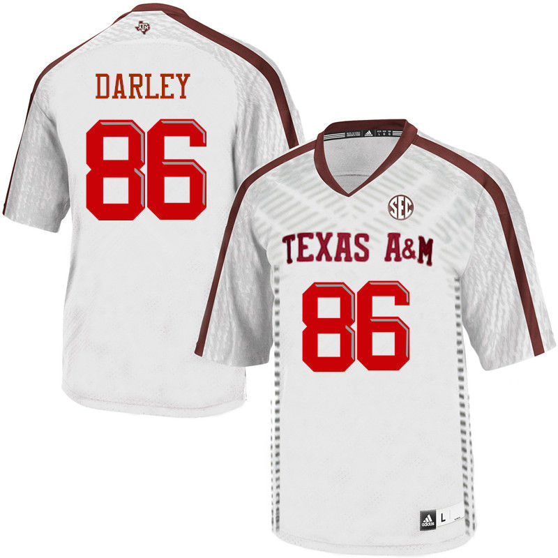 Men #86 David Darley Texas A&M Aggies College Football Jerseys-White