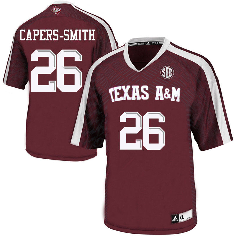 Men #26 DeShawn Capers-Smith Texas A&M Aggies College Football Jerseys-Maroon