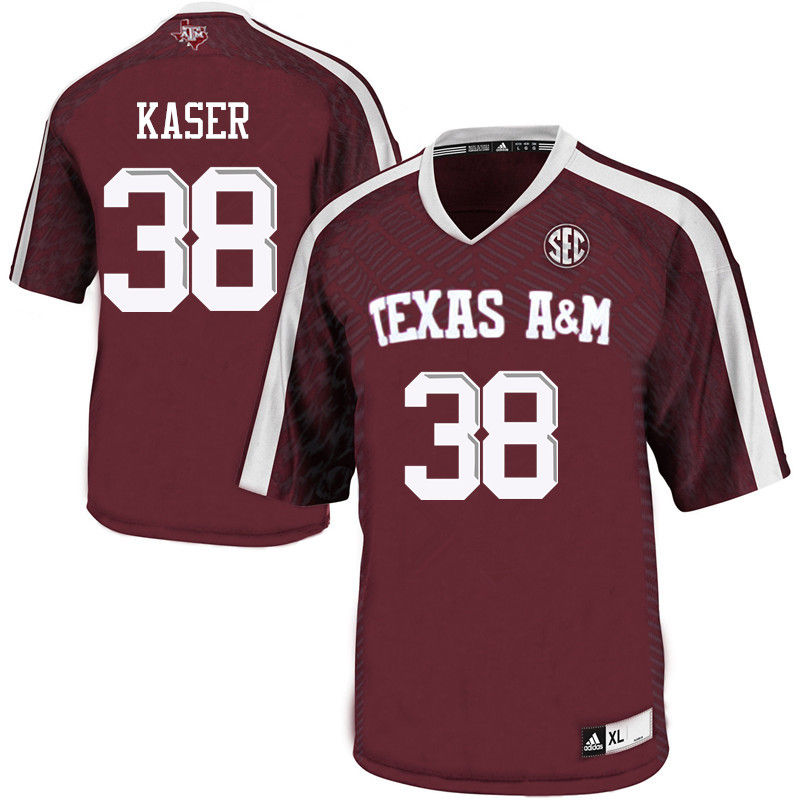 Men #38 Drew Kaser Texas A&M Aggies College Football Jerseys-Maroon