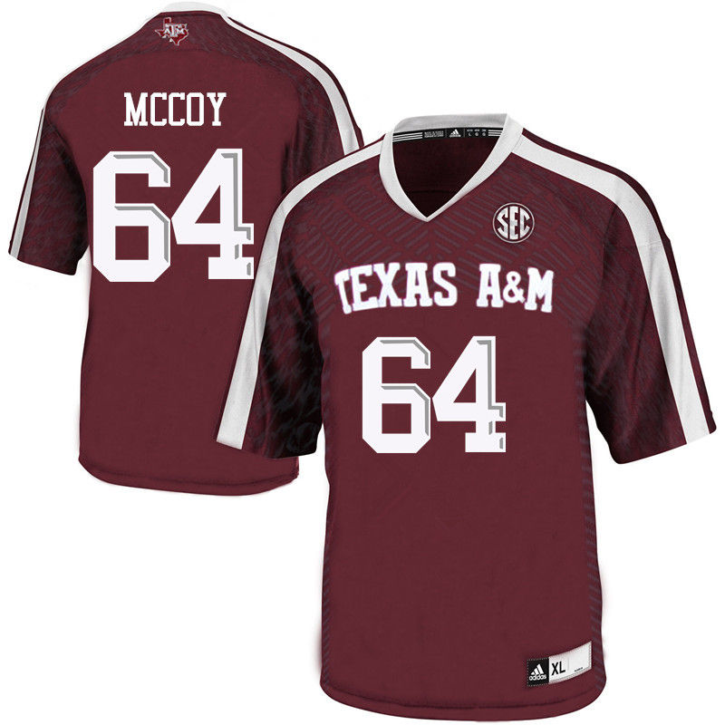 Men #64 Erik McCoy Texas A&M Aggies College Football Jerseys-Maroon