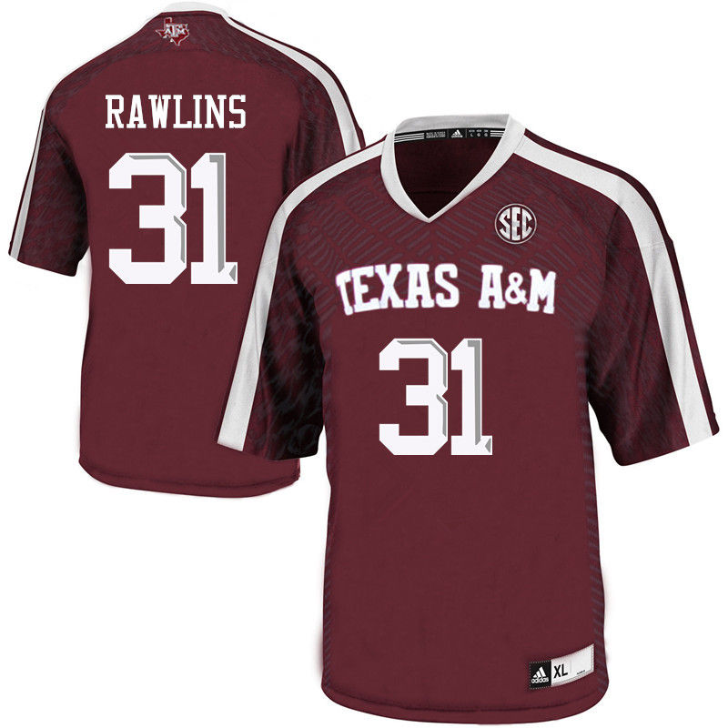 Men #31 Gannon Rawlins Texas A&M Aggies College Football Jerseys-Maroon