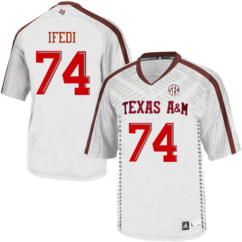 Men #74 Germain Ifedi Texas A&M Aggies College Football Jerseys-White