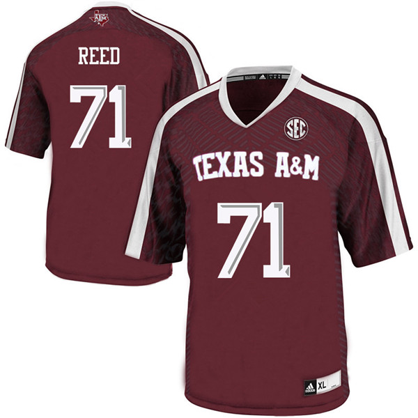 Men #71 Grayson Reed Texas A&M Aggies College Football Jerseys Sale-Maroon
