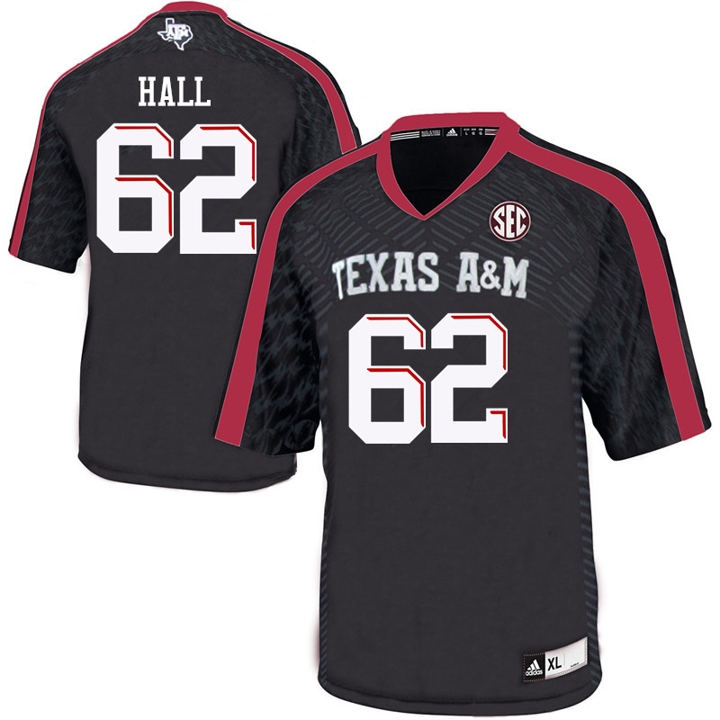Men #62 Harrison Hall Texas A&M Aggies College Football Jerseys Sale-Black