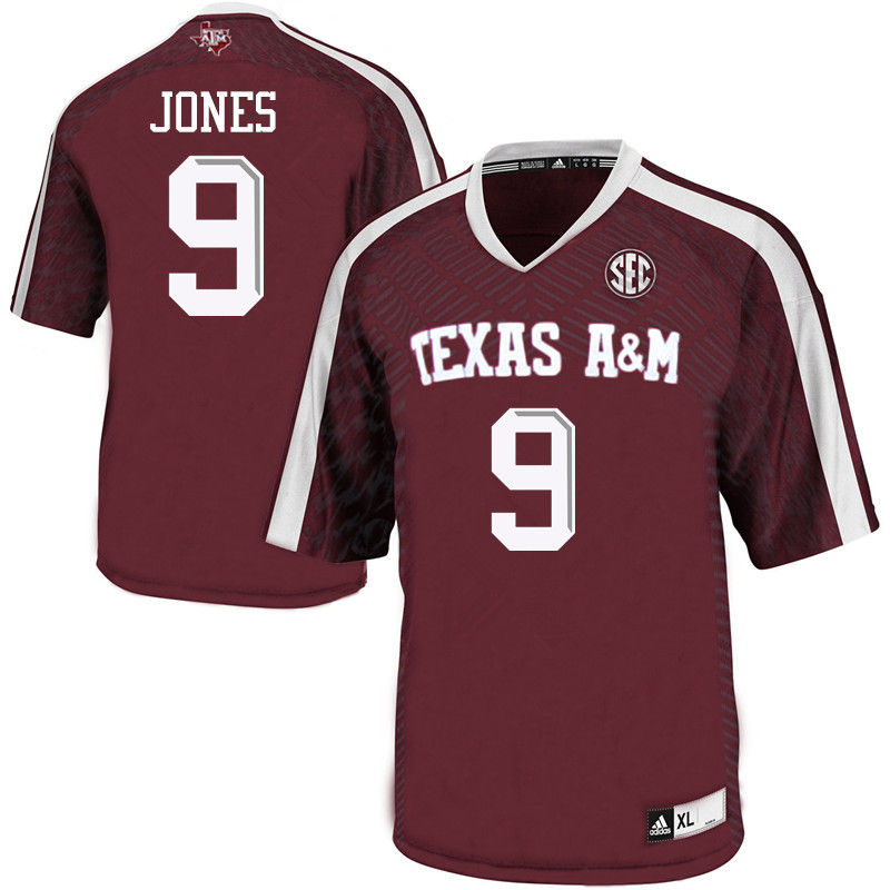 Men #9 Hezekiah Jones Texas A&M Aggies College Football Jerseys-Maroon