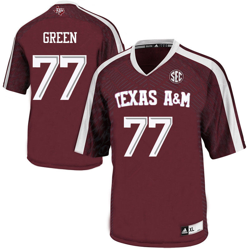 Men #77 Jacob Green Texas A&M Aggies College Football Jerseys-Maroon