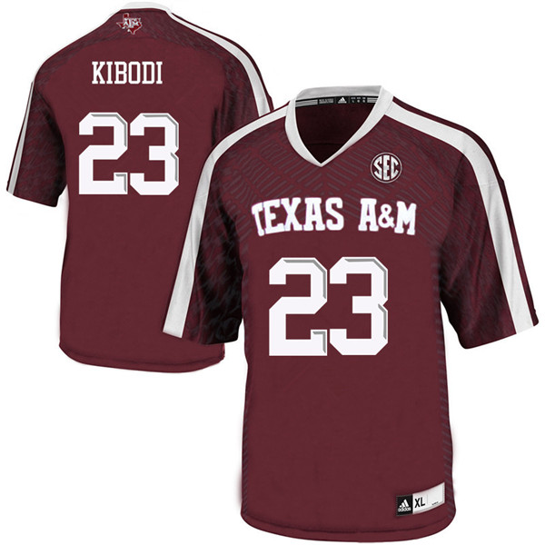 Men #23 Jacob Kibodi Texas A&M Aggies College Football Jerseys Sale-Maroon