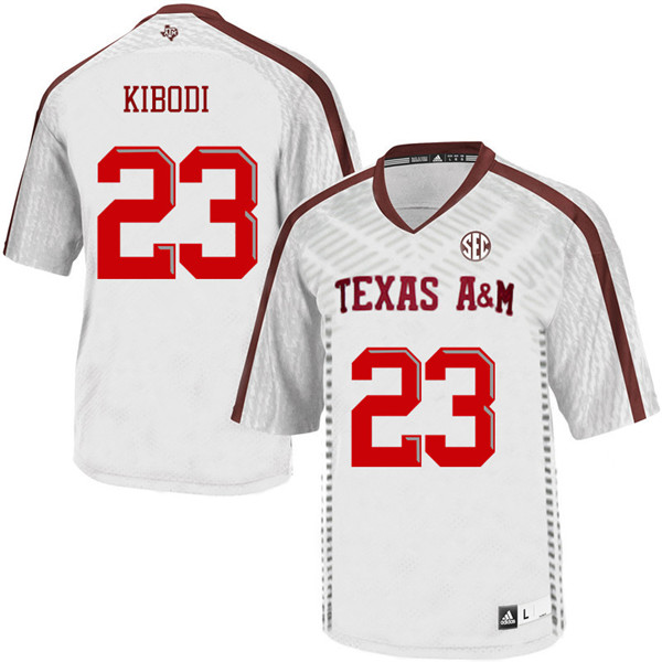 Men #23 Jacob Kibodi Texas A&M Aggies College Football Jerseys Sale-White